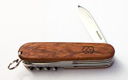 Victorinox Taschenmesser, Huntsman mit Holzschale, mehrere Klingen