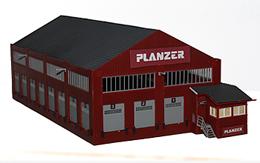 Lagerhalle Spedition Planzer / zum Basteln