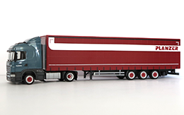 truck Scania, measure 1:87, plane red