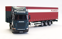 truck Scania R420, measure 1:50, plane red