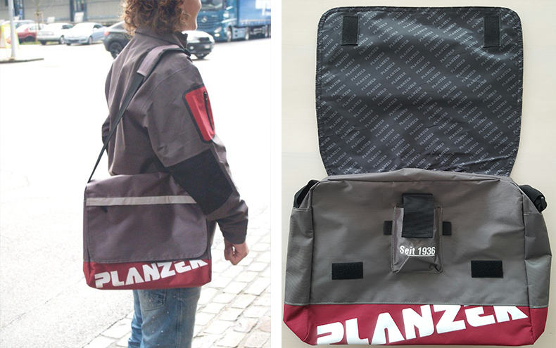 Messengerbag / Colour: grey/red